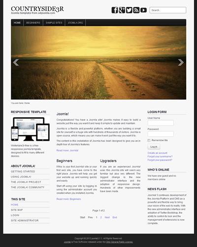 Responsive free joomla 3 template: a4joomla-countryside3r-free.