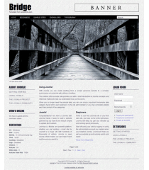 Free joomla 2.5 template with slideshow: a4joomla-bridge-free