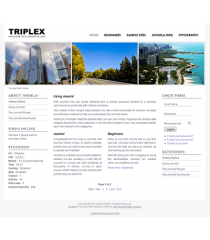 Free joomla 2.5 template with slideshow: a4joomla-triplex-free