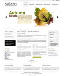 Pro joomla 2.5 template with slideshow: a4joomla-Autumn