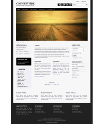 Pro joomla 3 template with slideshow: a4joomla-countryside