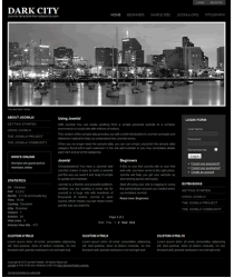 Pro joomla 2.5 template with slideshow: a4joomla-Darkcity