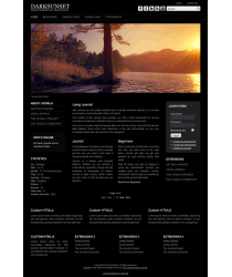 Pro joomla 2.5 template with slideshow: a4joomla-Darksunset