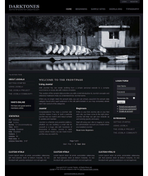 Pro joomla 2.5 template with slideshow: a4joomla-Darktones