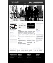 Responsive professional joomla 3 - 3.6 template: a4joomla-downtown3R