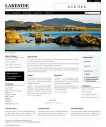 Pro joomla 2.5 template with slideshow: a4joomla-Lakeside