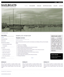 Pro joomla 2.5 template with slideshow: a4joomla-Sailboats