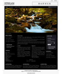 Pro joomla 2.5 template with slideshow: a4joomla-Stream