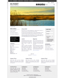 Pro joomla 2.5 template with slideshow: a4joomla-Sunset