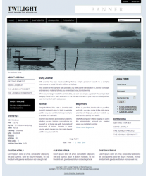 Pro joomla 2.5 template with slideshow: a4joomla-Twilight