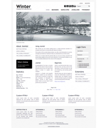 Minimalist pro joomla 2.5 template with slideshow: a4joomla-Winter