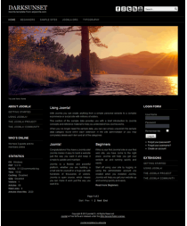 Free joomla 2.5 template with slideshow: a4joomla-darksunset-free