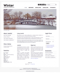Minimalist free joomla 2.5 template with slideshow: a4joomla-winter-free