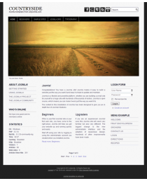 Free joomla 3 template with slideshow: a4joomla-countryside-free