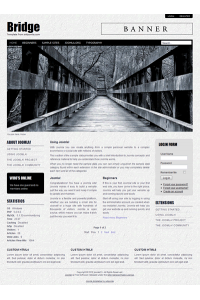 Pro joomla 2.5 template with slideshow: a4joomla-Bridge
