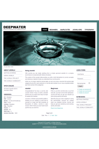 Free joomla 2.5 template with slideshow: a4joomla-deepwater-free