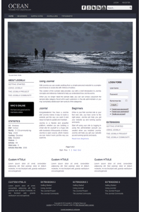 Pro joomla 2.5 template with slideshow: a4joomla-Ocean