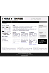 Pro joomla 2.5 template: a4joomla-Thirty-three